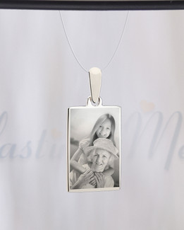 Rectangle Photo Engraved Stainless Guardian