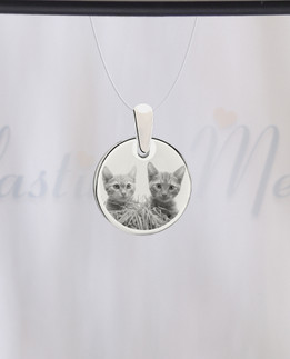 Round Photo Engraved Stainless Pet Guardian