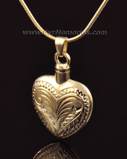 14K Gold Darling Heart Memorial Locket
