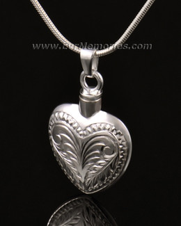 14K White Gold Darling Heart Urn Keepsake
