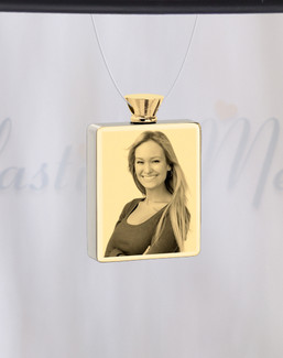 Rectangle Gold Plated Photo Engraved Ash Guardian