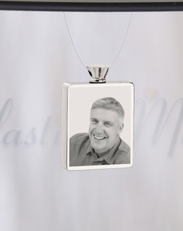Rectangle Stainless Steel  Photo Engraved Ash Guardian