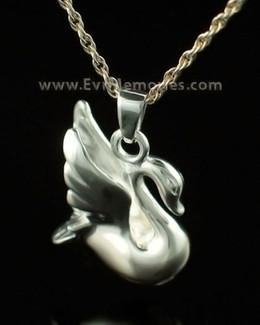 14K White Gold Swan Urn Keepsake