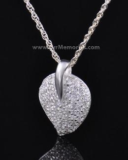 Sterling Silver Blaze Heart Urn Necklace