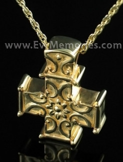 14K Gold Plated Companion Memory Cross Memorial Locket