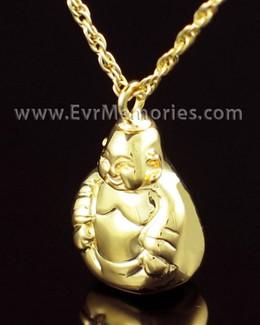 Gold Vermeil Budda Urn Necklace