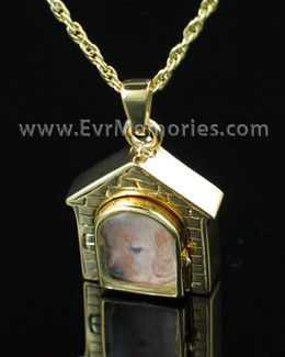 Gold Vermeil Doghouse Funeral Jewelry