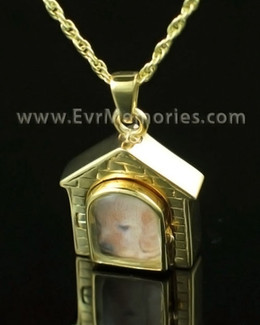 14K Gold Doghouse Jewelry urn