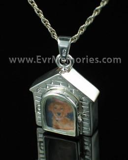 Sterling Silver Doghouse Cremation Keepsake