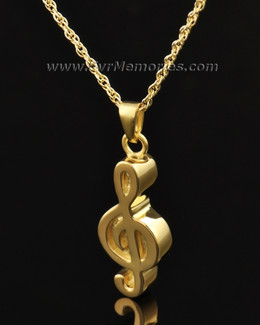 Gold Vermeil Music Note Urn Necklace