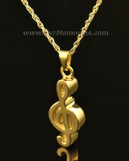 14K Gold Music Note Urn Keepsake