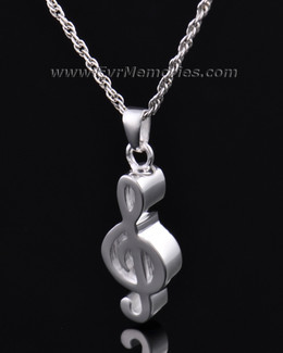Sterling Silver Music Note Memorial Locket