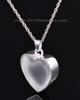 Silver Trimmed Heart Jewelry Urn
