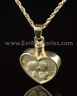 Gold Vermeil True Love Cremation Keepsake