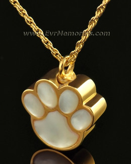 14K Gold Pearly Paw Memorial Jewelry