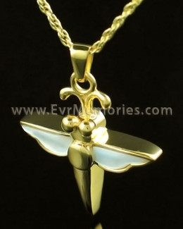 14K Gold Dewy Dragon Urn Necklace