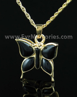 Gold Vermeil Night Butterfly Cremation Keepsake