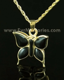 14K Gold Night Butterfly Urn Locket