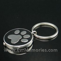 Stainless Steel Nightly Walk Keychain Memorial Locket