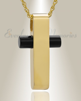 Gold Plated Barred Cross Funeral Jewelry