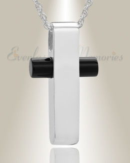 Sterling Silver Barred Cross Funeral Jewelry