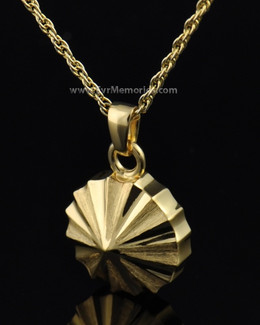 Gold Plated Pinwheel Memorial Locket