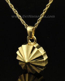 14K Gold Pinwheel Jewelry Urn