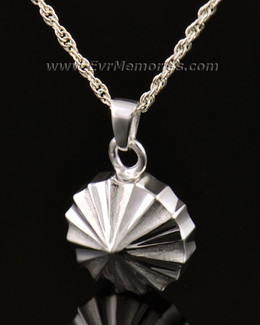 14K White Gold Pinwheel Funeral Jewelry
