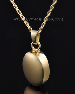 Gold Vermeil Oblilque Urn Necklace