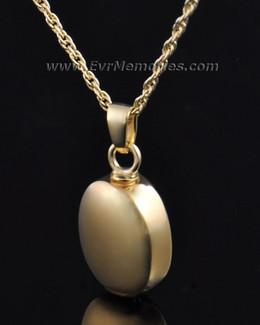 Gold Vermeil Oblilque Urn Necklace