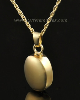 14k Gold Oblique Urn Necklace