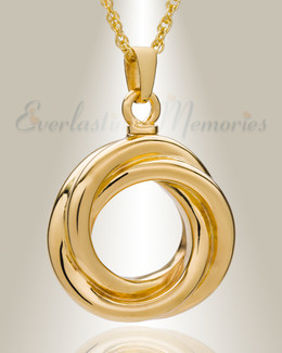 Gold Plated Ringed Eternity Cremation Keepsake
