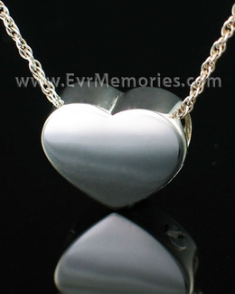 Sterling Silver Devotion Heart Cremation Urn Keepsake
