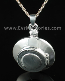 Sterling Silver Piety Urn Necklace