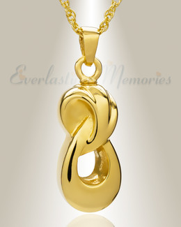 Everlasting 14K Gold Plated Companion Infinity Jewelry Urn
