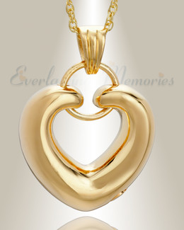 14K Gold Loyalty Heart Cremains Jewelry