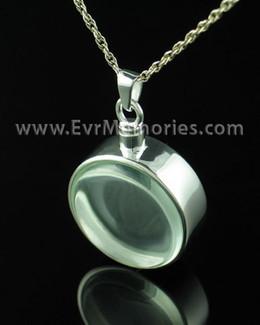 Sterling Silver Glass Solitude Urn Keepsake