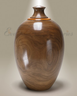 Dark Native Southeastern Wood Cremation Urn