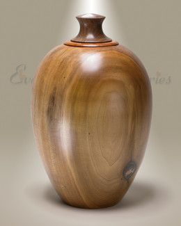 Classic Native Southeastern Wood Cremation Urn