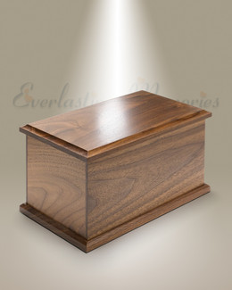 Extra Large Walnut Cremation Urn