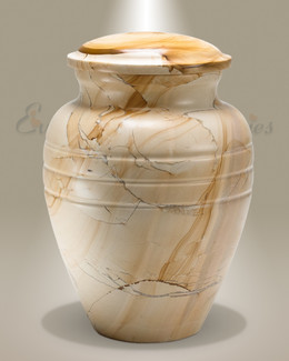 Teakwood Grain Marble Cremation Urn