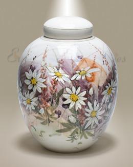 Daisies Ceramic Cremation Urn