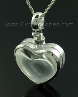 Glass Heart Memorial Cremation Urn Keepsake