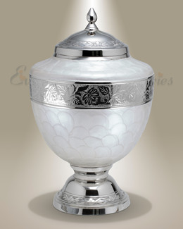 Pearl White Majestic Cremation Urn