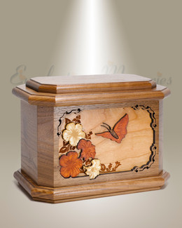 Walnut Butterfly Cremation Urn