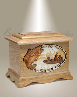Oak Ambassador w/ Bass Cremation Urn