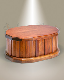 Cherry Oval Cremation Urn