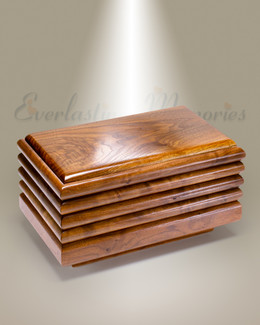 Walnut Side Slat Cremation Urn