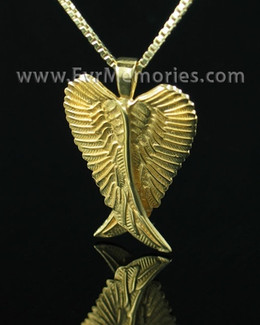 Gold Plated Angelic Funeral Jewelry