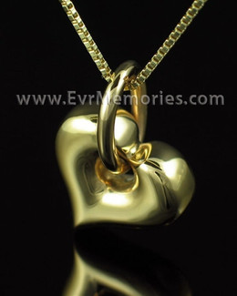 Gold Plated Hanging Heart Urn Keepsake
